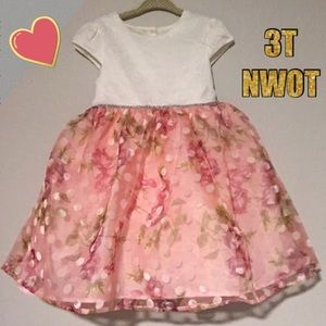 Beautiful princess like poofy floral toddler dress